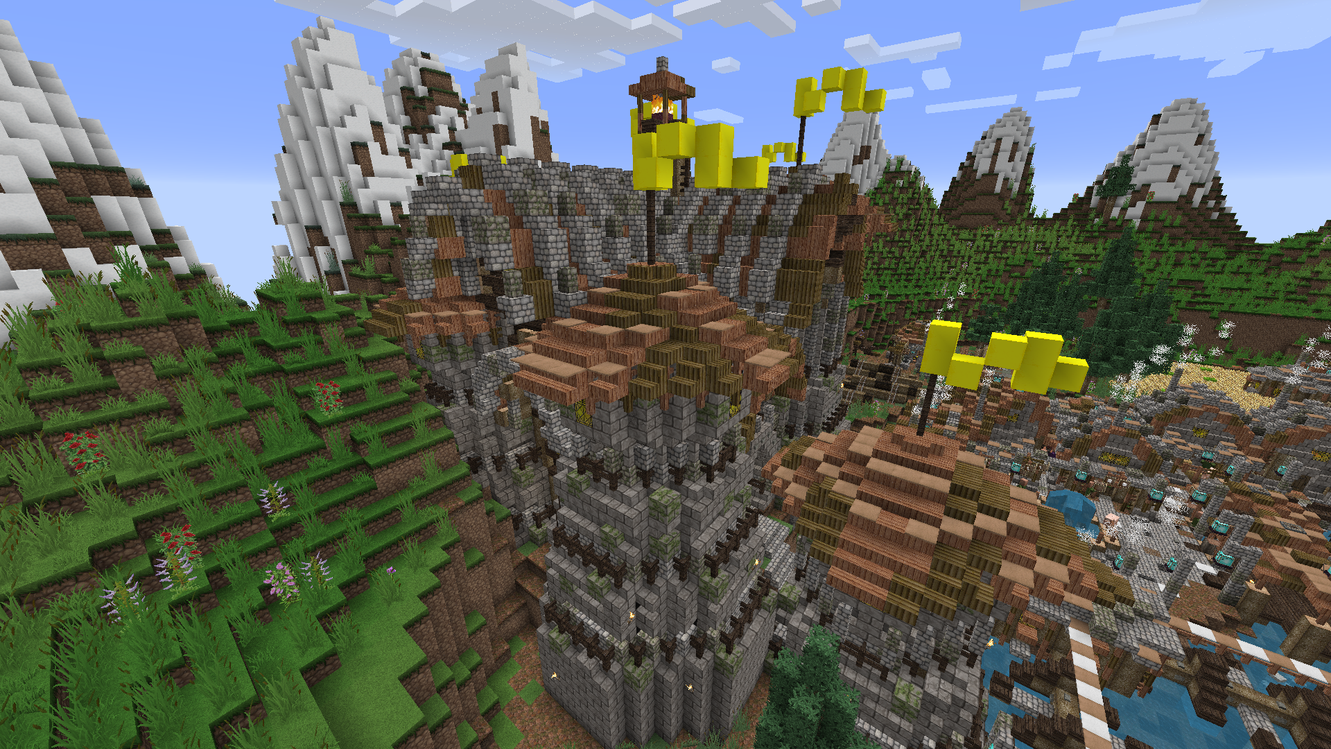 descargar mapa castillo minecraft songs