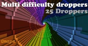 Descargar Multi Difficulty Droppers para Minecraft 1.10
